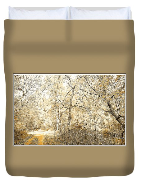 Pennsylvania Autumn Woods Duvet Cover by A Gurmankin