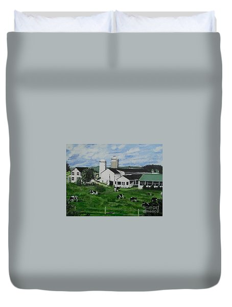 Pennsylvania Holstein Dairy Farm  Duvet Cover