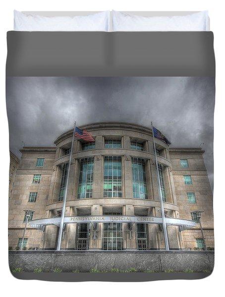 Pennsylvania Judicial Center Duvet Cover