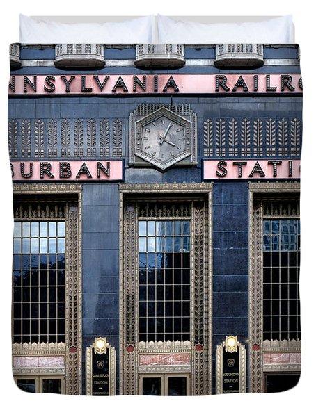 Pennsylvania Railroad Suburban Station Duvet Cover