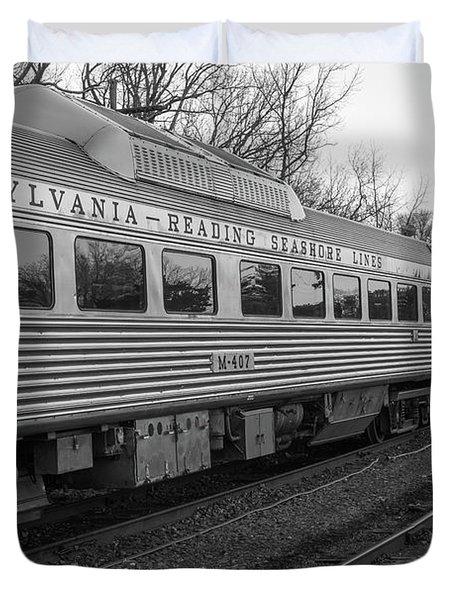 Pennsylvania Reading Seashore Lines Train Duvet Cover