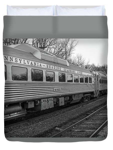 Pennsylvania Reading Seashore Lines Train Duvet Cover by Terry DeLuco