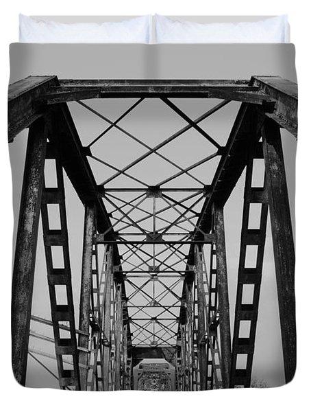 Pennsylvania Steel Co. Railroad Bridge Duvet Cover