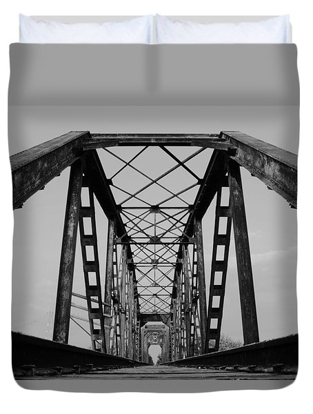 Pennsylvania Steel Co. Railroad Bridge Duvet Cover