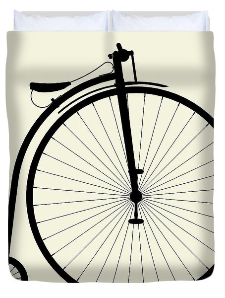 Penny-farthing Bicycle Duvet Cover