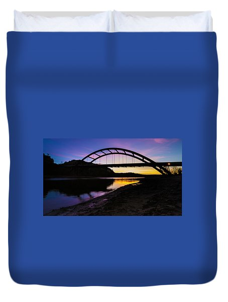 Pennybacker Bridge Duvet Cover