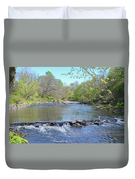 Duvet Cover featuring the photograph Pennypack Creek - Philadelphia by Bill Cannon