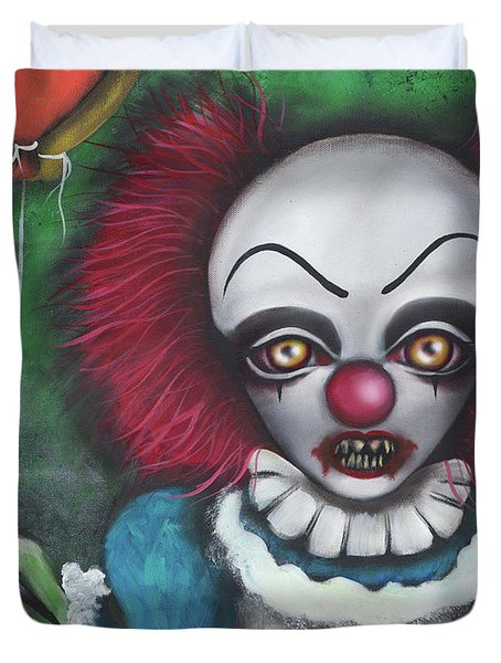 Pennywise Duvet Cover by Abril Andrade Griffith