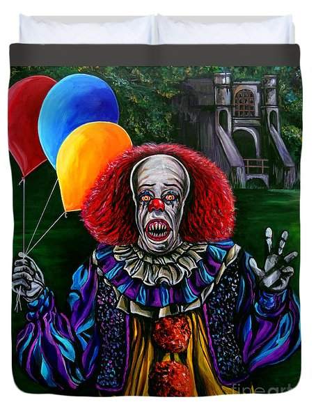 Pennywise It Duvet Cover by Jose Mendez