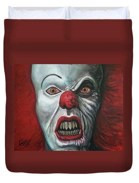 Pennywise Duvet Cover by Tom Carlton
