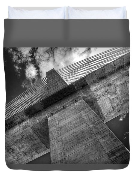 Penobscot Narrows Bridge Duvet Cover
