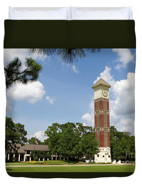 Duvet Cover featuring the photograph Pensacola State College by Steven Frame