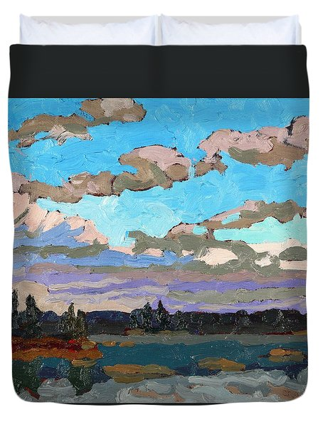 Pensive Clouds Duvet Cover