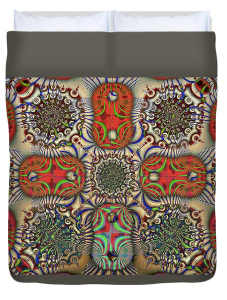 Pent-up-agram Duvet Cover