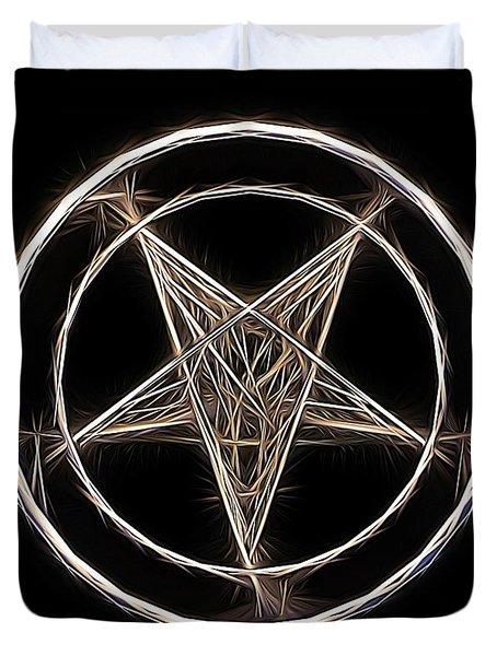Pentagram Symbol By Raphael Terra Duvet Cover