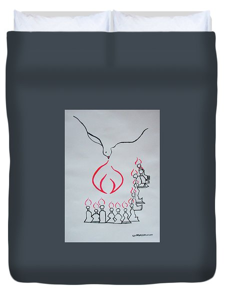 Pentecost Duvet Cover by Gloria Ssali