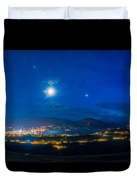 Penticton Night 1 Duvet Cover by Thomas Born