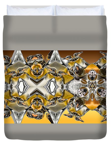 Pentwins Duvet Cover by Ron Bissett