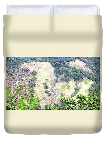 Penuelas, Puerto Rico Mountains Duvet Cover