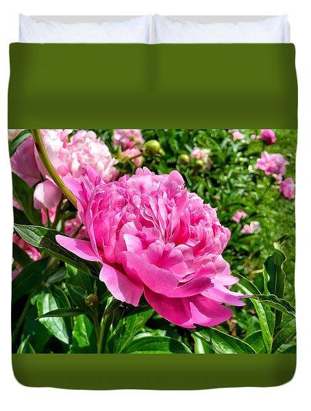 Peonies In Spring Duvet Cover