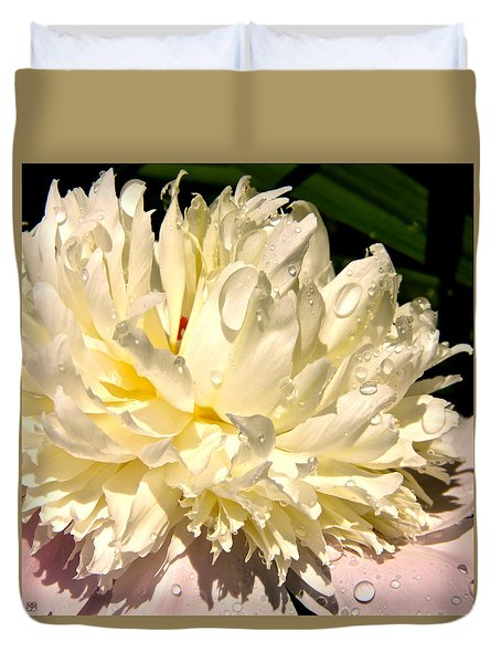 Peony After Rain Duvet Cover