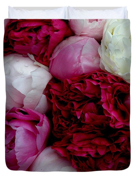 Peony Bouquet Duvet Cover by Lainie Wrightson