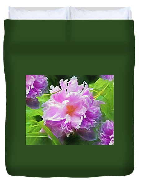 Peony Cluster 7 Duvet Cover