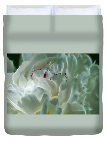 Peony Flower Energy Duvet Cover