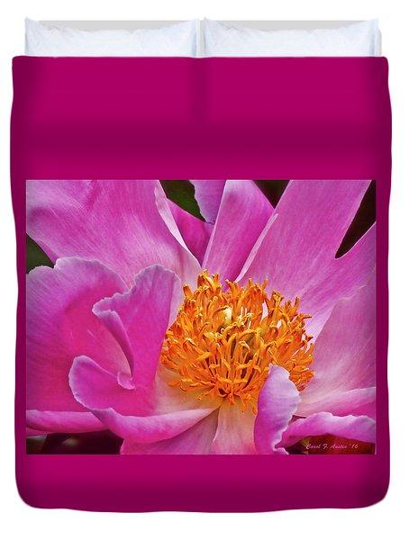 Pink Flower Peony Garden Wall Art Duvet Cover