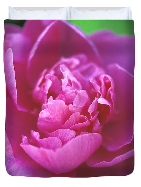 Peony In Pink Duvet Cover by Kathy Yates
