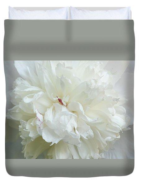Peony In White Duvet Cover
