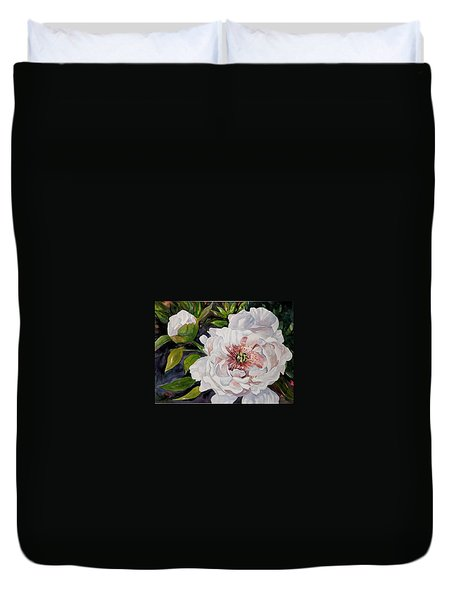 Peony Pals Duvet Cover