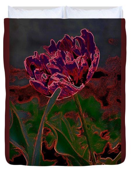 Peony Tulip Duvet Cover