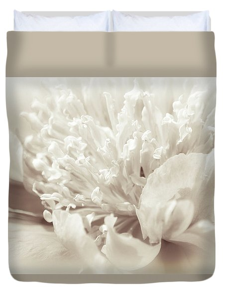 Peony 5 Duvet Cover by Bonnie Bruno