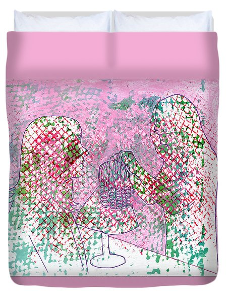 People At Work - The Doll Stylist Duvet Cover