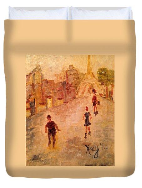People In Paris Duvet Cover