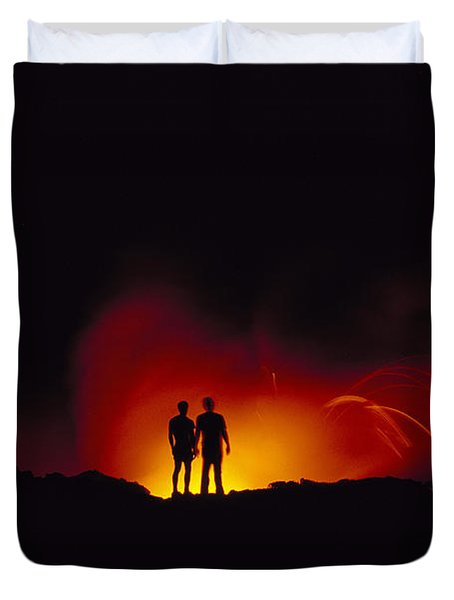 People View Lava Duvet Cover by Ron Dahlquist - Printscapes