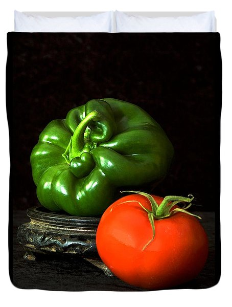 Pepper And Tomato Duvet Cover by Elf Evans