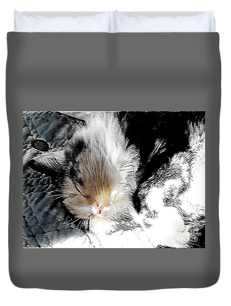 Pepper Sunface Duvet Cover