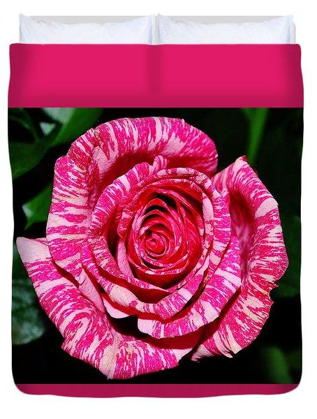 Peppermint Rose Duvet Cover