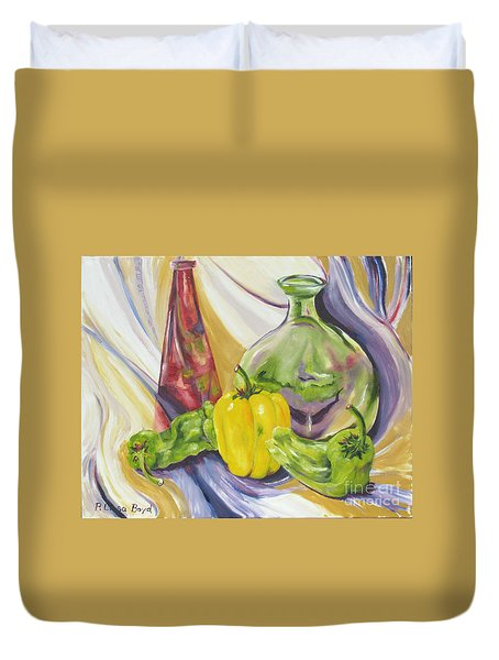 Peppers And Passion Duvet Cover