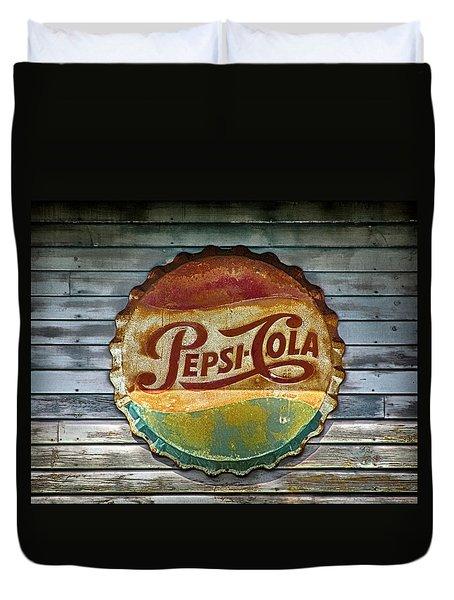 Pepsi-cola Sign Vintage Duvet Cover
