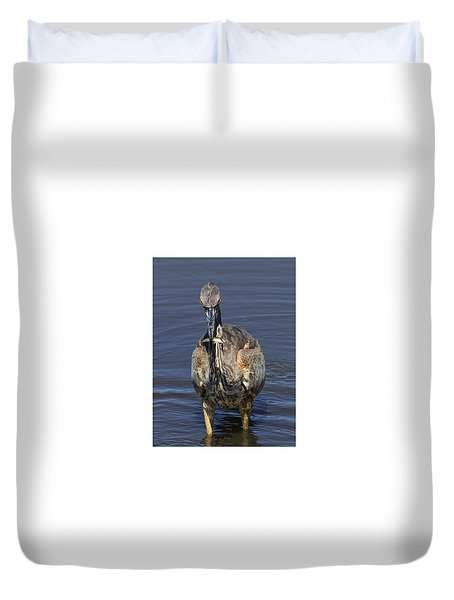 Perch Anyone? Duvet Cover