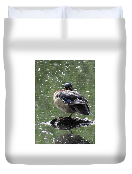 Perchance To Dream Of Fair Wood Duck Maidens Duvet Cover by I'ina Van Lawick