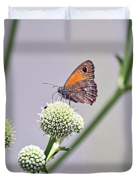 Perched Butterfly No. 255-1 Duvet Cover