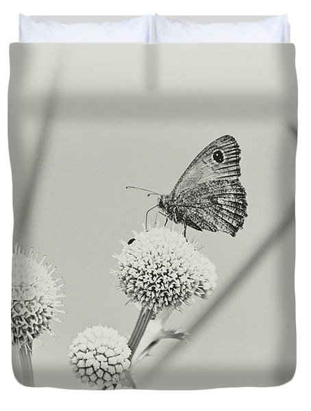 Perched Butterfly No. 255-2 Duvet Cover