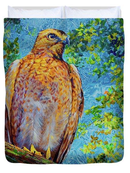 Perched Hawk Duvet Cover