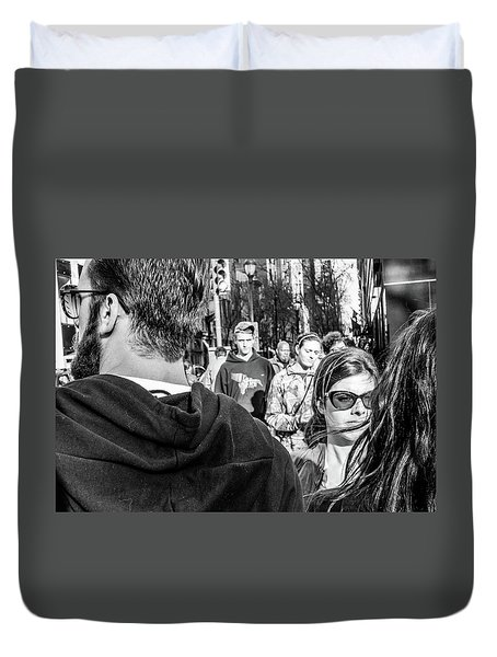 Duvet Cover featuring the photograph Percolate by David Sutton