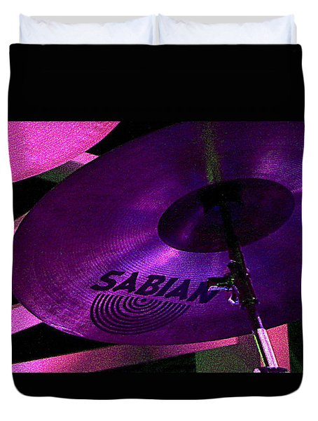 Duvet Cover featuring the photograph Percussion by Lori Seaman
