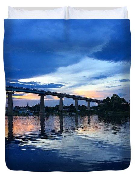 Perdido Key Bridge Duvet Cover